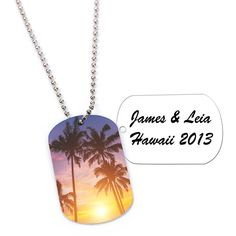 Personalized Custom Photo Two-Sided Dog Tag with Chain - Create A Favor