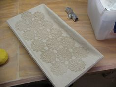 lace inlay tray by bptakoma, via Flickr