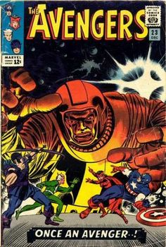 Avengers 23 Marvel Comic books cover A rare collaboration by comic book legend Jack Kirby and John Romita, and a fine example of how well Romita's work went with other artists. The Avengers, Avengers Comics, Dc Comics, Old Comic Books, Vintage Comic Books, Marvel Comic Books, Comic Book Artists, Vintage Comics, Comic Book Covers