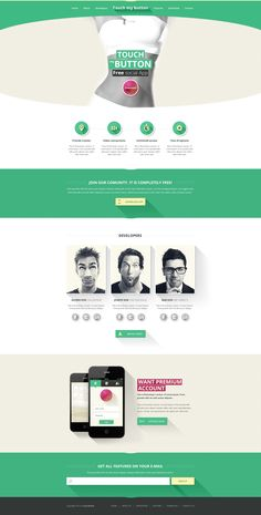 Flat web design wit long shadow effect created in my spare time. Hope you like it :)