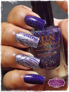Moonlight Nocture - F.U.N Lacquer e carimbada com Born Pretty BP-10