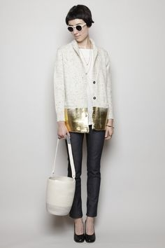 Oh man, the sweater...of course it's Rachel Comey. <3
