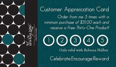 Left Aligned Customer/Hostess Appreciation Cards made for Thirty-One Gifts. More prints available!