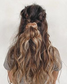 These hairstyles are lovely - easy dutch braid halfupdo and a cutie velvet scrunchie you can do this weekend, braid hairstyle , gorgeous hair color, braided ponytails ,messy braids hairstyle haircolor braids hair bun cute 763219468083659416 Messy Braids, Braided Ponytail, Dutch Braids, Braid Hair, Ponytail Scrunchie, Twisted Braid, Crown Braids, Loose Braids, Box Braids Hairstyles