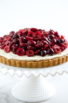 Cherry Cheesecake Cookie Tart (grain free & refined sugar free) | GI 365