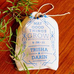 Personalized Seed Bomb Favors by VisuaLingual