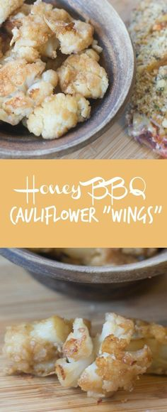 Cauliflower Wings / Cauliflower Recipes / Cauliflower Dishes / roasted cauliflower / cauliflower bites / healthy appetizers Bbq Cauliflower Wings, Cauliflower Dishes, Roasted Cauliflower, Cauliflower Ideas, Healthy Appetizers, Appetizer Recipes, Appetizer Ideas, Veggie Recipes, Healthy Recipes