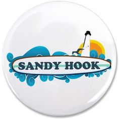 "Sandy Hook NJ - Surf Design. 3.5"" Button on CafePress.com"