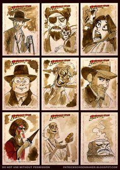 TOPPS Indiana Jones Heritage sketch cards