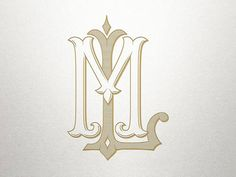 This royal monogram design features LM ML so your royal monogram will be uniquely yours! This beautiful hand-crafted vintage monogram has not been scanned but created authentically, resulting in clean lines and graceful curves. The end result is perfect for letterpress, stamping, screen