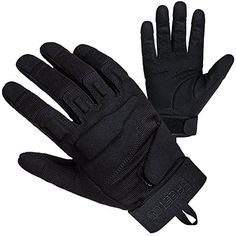 [Reinforced Vinyl] Free Padded Tactical Gloves Full Finger Mitts with PU Leather + Nylon Design Ideas for Army Battle, Shooting Riding and Other Outdoor Activities (Black) black Size:L: Amazon.de: Sport & Freizeit