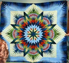 Hawaiian Star, Quiltworx.com, Made by Leslie Kiger.