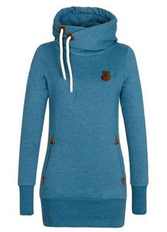Long Sleeve Blue Hoodie Dress for Woman on sale only US$22.67 now, buy cheap Long Sleeve Blue Hoodie Dress for Woman at modlily.com