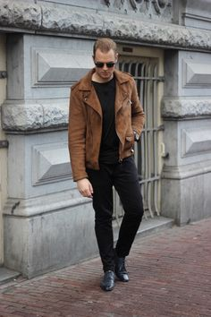 suede-biker-jacket-683x1024 Suede Jacket Outfits for Men- 20 Ways to Wear a Suede Jacket