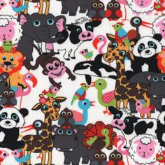Menagerie: fabulous jersey knit from Stenzo.  Perfect weight and stretch for kids' clothing