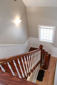 Updated Foyer with Accessible Beige by Sherwin Williams | Bonnie Donahue