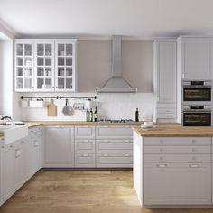 Ikea bodbyn kitchen ikea bodbyn kitchen grey and white. Bodbyn Kitchen Grey, White Ikea Kitchen, White Kitchen Cupboards, Ikea Kitchen Cabinets, Grey Kitchens, Kitchen Room Design, Kitchen Interior, New Kitchen, Kitchen Decor