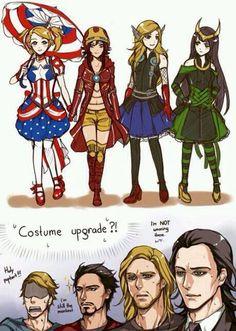 Avengers gender bend