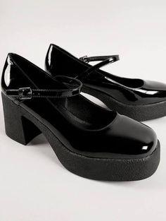 mary jane chunky heel shoes - Google Search Socks And Heels, Shoes Heels, Chunky Heel Shoes, Mary Janes, Google Search, Tights And Heels, High Heel, Stilettos
