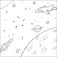 Crafts,Actvities and Worksheets for Preschool,Toddler and Kindergarten.Free printables and activity pages for free.Lots of worksheets and coloring pages. Dot Robot, Space Themed Nursery, Preschool Learning Activities, Connect The Dots, Space Crafts, Kids Crafts, Worksheets For Kids, Le Point, Coloring Pages For Kids