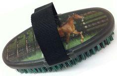 Showman Bristle Body Brush With Horse Image | ChickSaddlery.com