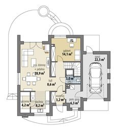 Bella II House Outside Design, House Design, Tiny Studio Apartments, House Construction Plan, Sims House Plans, Coffe Table, House Layouts, Home Fashion, Floor Plans