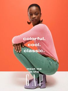 campaign photography Mayowa Nicholas stars in Gaps spring-summer 2018 campaign Creative Advertising, Ads Creative, Fashion Advertising, Creative Portraits, Advertising Campaign, Print Advertising, Print Ads, Brand Campaign, Campaign Fashion