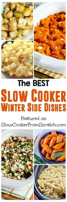 The BEST Slow Cooker Winter Side Dishes - Slow Cooker or Pressure Cooker - Crockpot Recipes Healthy Slow Cooker, Best Slow Cooker, Crock Pot Slow Cooker, Crock Pot Cooking, Slow Cooker Recipes, Crockpot Recipes, Cooking Recipes, Healthy Meals, Cheese Burger