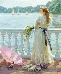 Vladimir Gusev. Pigeons and doves in fine art.