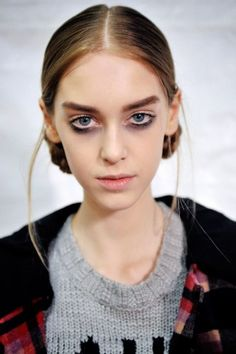 Messy Makeup:   Gone are the days of perfectly-applied makeup — shaky, messy, distorted looks are in. From smudges and scratchy-looking liner at Narciso Rodriguez, to Marc Jacobs's smudgy under-eye — the message we got was that you don't need a steady hand to look amazing. Hey, we're all for any trend that indulges our laziness!