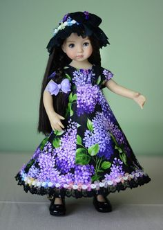 """SOLD """"Japanese Garden"""" Dress, Outfit, Clothes for 13"""" Dianna Effner Little Darling #LuminariaDesigns"""