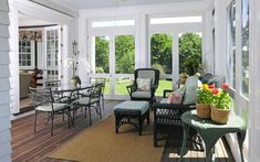 """Tour a Georgian Colonial: A New """"Old"""" House in Greenwich Connecticut - screened in porch"""