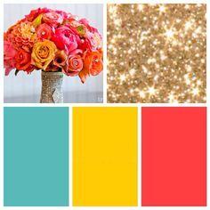 aqua and coral color scheme - Google Search