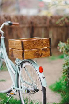 Handmade Wood Bike Crate by ArtifactofGrace on Etsy