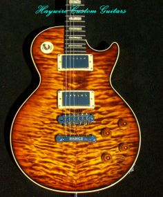 Haywire Custom Guitars Les Paul featuring: Seymour Duncan Jazz Humbuckers-SH-2, Babicz full contact bridge, Schaller Locking tuners, Grover strap locks, 4 push-pull volume and tone pots for-Super Seven switching with 21 different tones! http://www.haywirecustomguitars.com