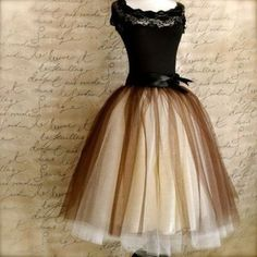 dress classy classic vintage 50s retro lace bow black tan tule ballgown tea length ribbon dress classic