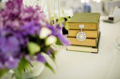 Books & Flower Centerpieces | Pauleenanne Design | BeanArt Photography