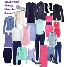 The Straight Shaped Woman's Wardrobe (Summer)