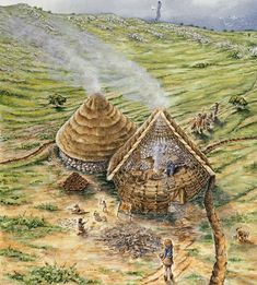 Peter Dunn - Bronze Age Huts on Brean Down, Somerset