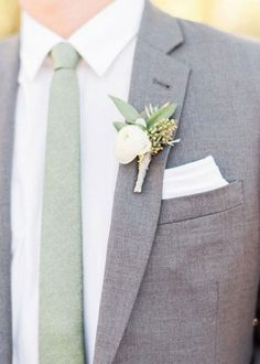 Fabulous Sage Wedding Ideas – sage colour ideas for groom style Looking for a wedding colour that refreshing, tender, exquisite and very relaxing? that's sage wedding color for your wedding! Sage is one of the classical color combos, which. Grey Suit Wedding, Sage Green Wedding, Wedding Men, Wedding Ideas, Wedding Colors, Menswear Wedding, Wedding Themes, Wedding Flowers, Rustic Wedding Groom