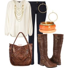Fall brown 3 (VINCE Ivory Silk Tunic Top $365)