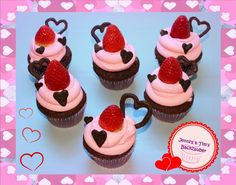 Food And Drink, Desserts, Strawberries And Cream, Valentine Day Cupcakes, Molten Chocolate, Chef Recipes, Food And Drinks, Tailgate Desserts, Deserts