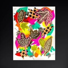 This leaf art collage craft is a fun way to spend a fall afternoon and helps kids learn the art concepts of color, composition, depth, shade and pattern!