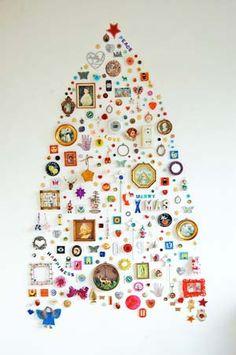 wall mounted xmas tree