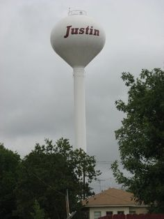 Justin Texas Water Tower