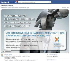 Manpower Experis Norway Facebook photo job ad 2nd version Feb 2013