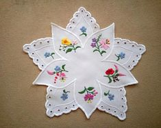 Embroidered Hungarian doilies, tablecloths, ornaments by EmbroideryOfHungary Jacobean Embroidery, Tambour Embroidery, Hungarian Embroidery, Brazilian Embroidery, Vintage Embroidery, Embroidery Patterns, Hand Embroidery, Needlepoint Stitches, Needlework
