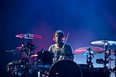 (Molly J. Smith | Special to The Salt Lake Tribune)   Drummer Dominic Howard of Muse performs at the Energy Solutions Arena in Salt Lake City, Utah, on Sept. 20, 2013.