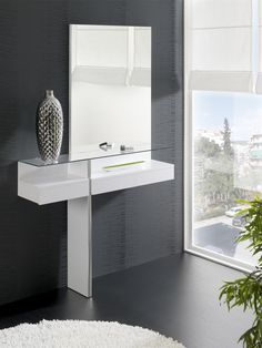 Melrose is a modern dressing table available in black or white, an exclusive piece of furniture that lends a unique decorative touch to your…