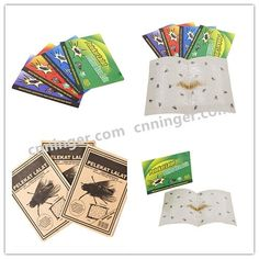 Fly Glue Paper with Strong Attractant Bait Green/Red/Blue/Purple/Customized Printings Available!!!  Contact us for your own brand business now!!!  Email: stephy@cnninger.com Whatsapp:86 18867650058 www.cnninger.com Glue Traps, Business Branding, Bait, Red And Blue, Strong, Purple, Paper, Green, Prints